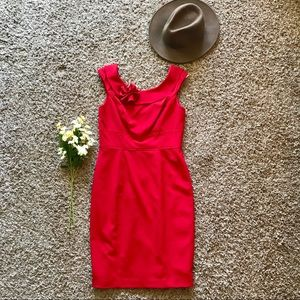Calvin Klein Detailed Neckline Sheath Dress